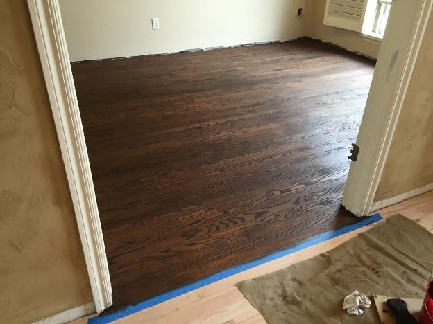 stain wood flooring broken arrow ok