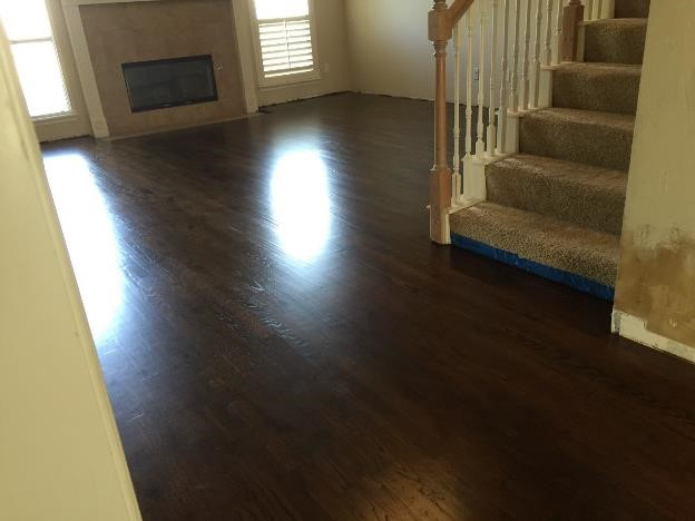 restaining hardwood floor tulsa