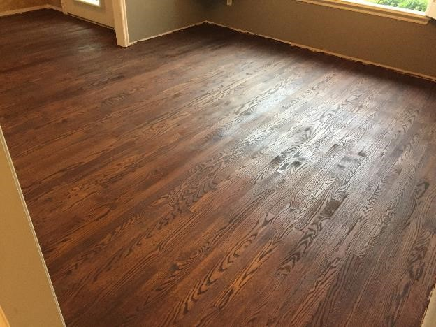 stain wood flooring broken arrow oklahoma