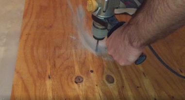 drill plywood for tapcons